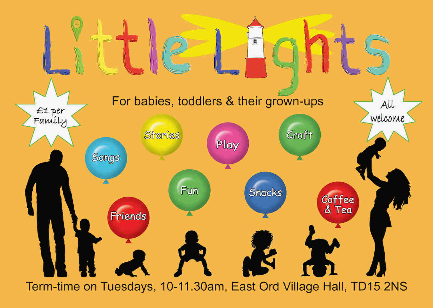 Little Lights Baby & Toddler group, Berwick Upon Tweed, East Ord Village Hall, TD15 2NS